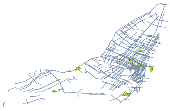 selected streets parks toponymy
